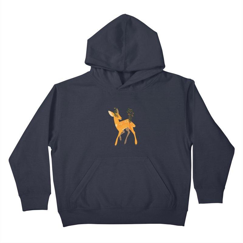 Golden Deer Kids Pullover Hoody by StrangelyKatie's Store