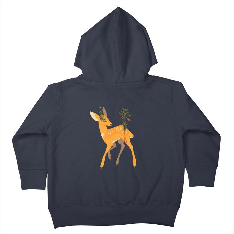 Golden Deer Kids Toddler Zip-Up Hoody by StrangelyKatie's Store