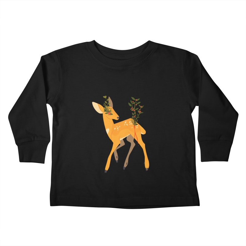 Golden Deer Kids Toddler Longsleeve T-Shirt by StrangelyKatie's Store