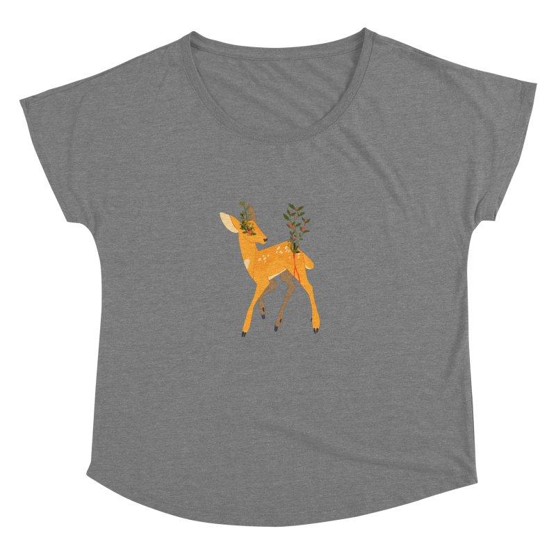 Golden Deer Women's Dolman Scoop Neck by StrangelyKatie's Store