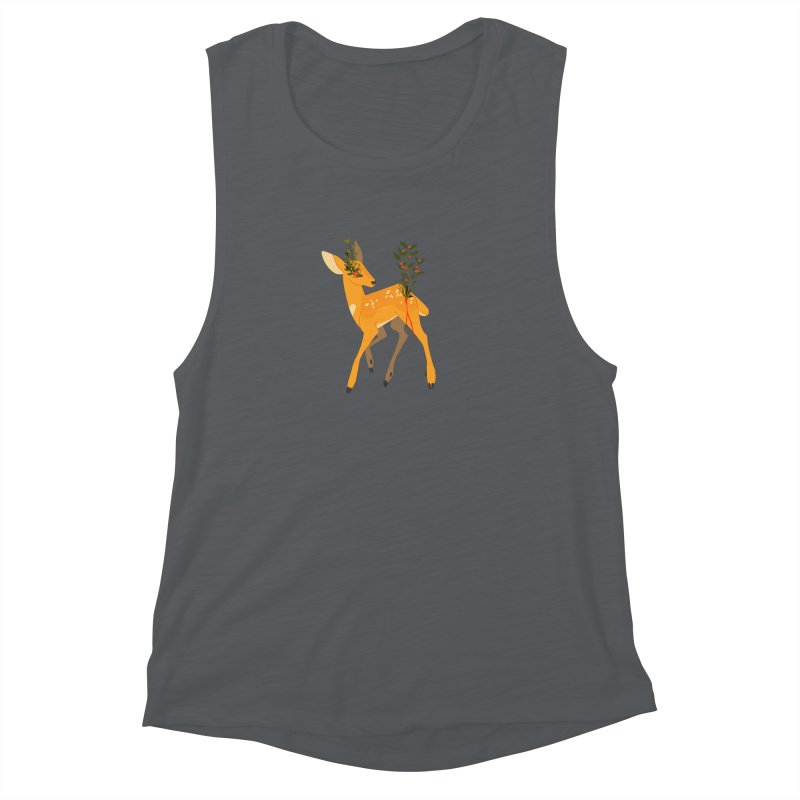 Golden Deer Women's Muscle Tank by StrangelyKatie's Store