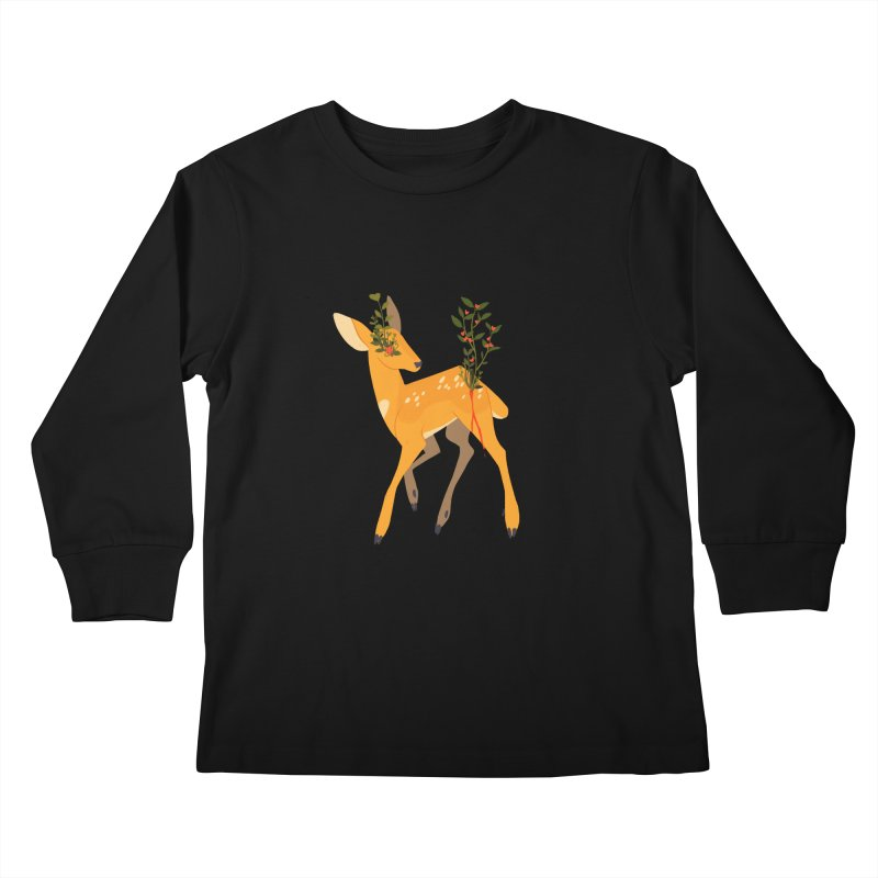 Golden Deer Kids Longsleeve T-Shirt by StrangelyKatie's Store