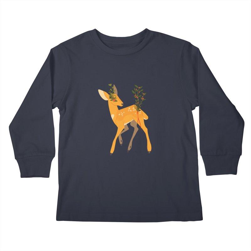 Golden Deer Kids Longsleeve T-Shirt by StrangelyKatie's Store