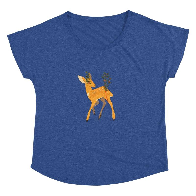 Golden Deer Women's Scoop Neck by StrangelyKatie's Store