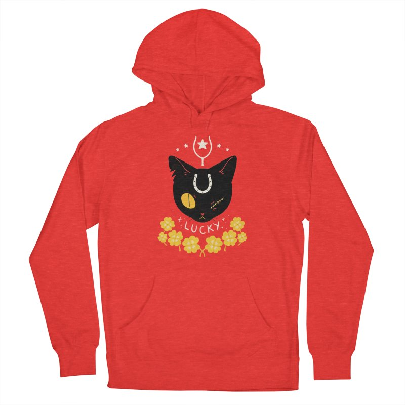Lucky Cat Men's Pullover Hoody by StrangelyKatie's Store