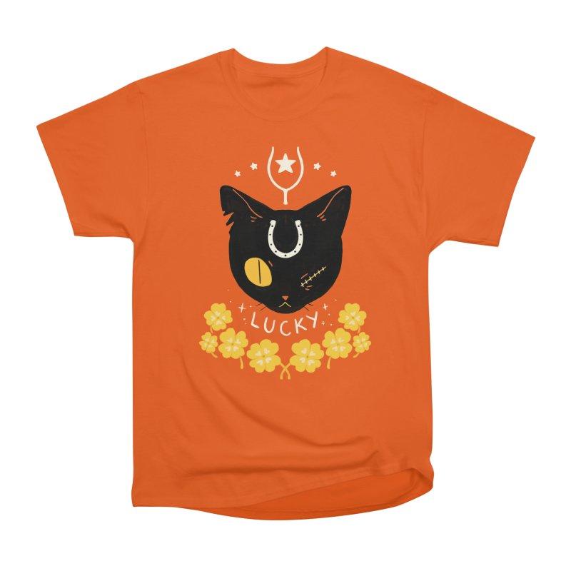 Lucky Cat Men's Classic T-Shirt by StrangelyKatie's Store