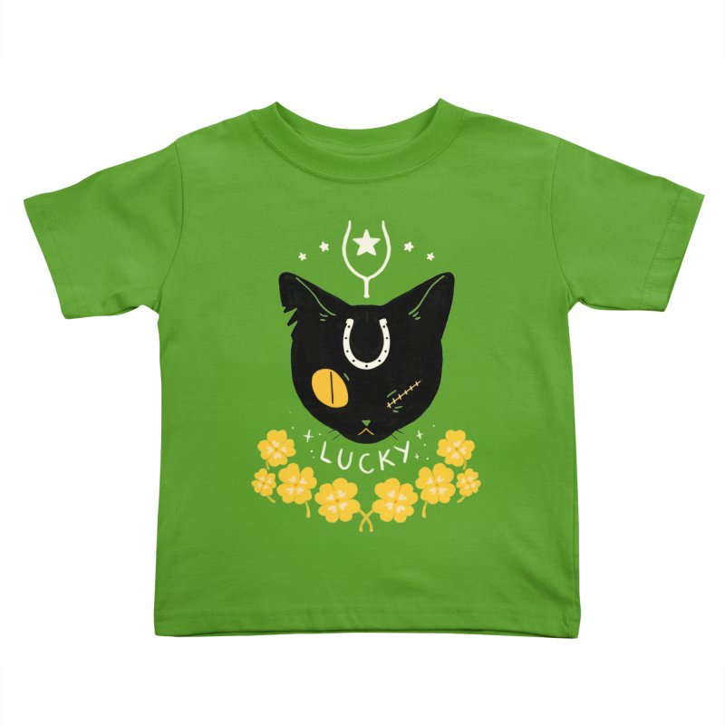 Lucky Cat Kids Toddler T-Shirt by StrangelyKatie's Store