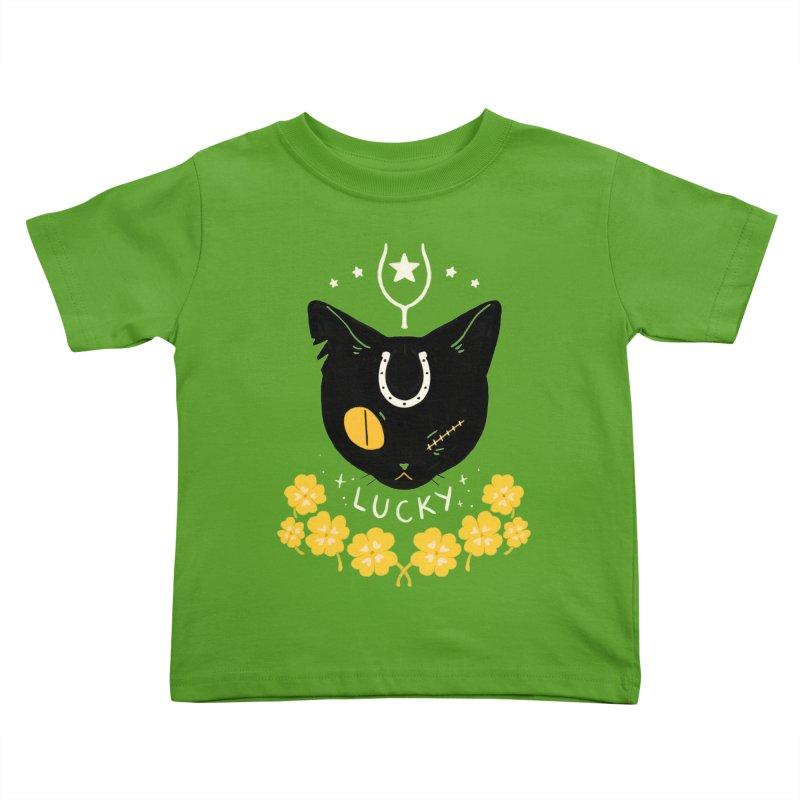 Lucky Cat Kids Toddler T-Shirt by StrangelyKatie's Store