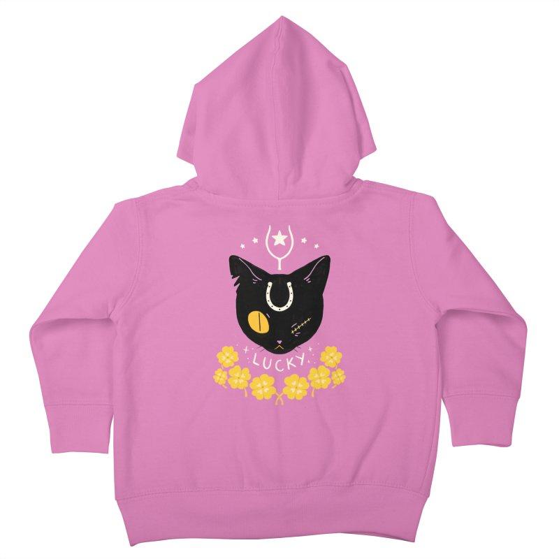 Lucky Cat Kids Toddler Zip-Up Hoody by StrangelyKatie's Store