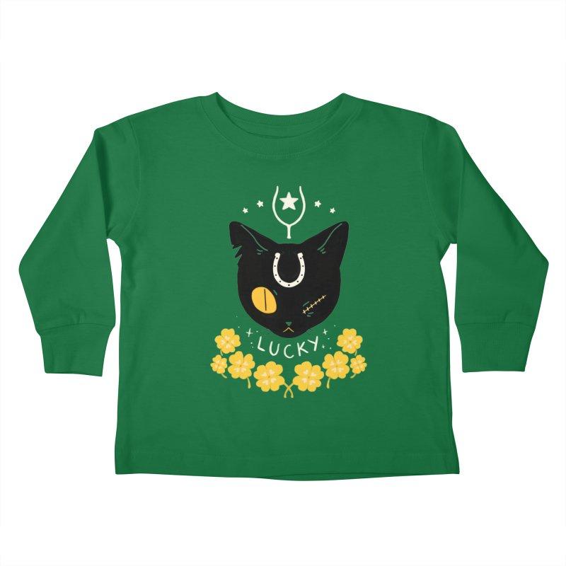 Lucky Cat Kids Toddler Longsleeve T-Shirt by StrangelyKatie's Store