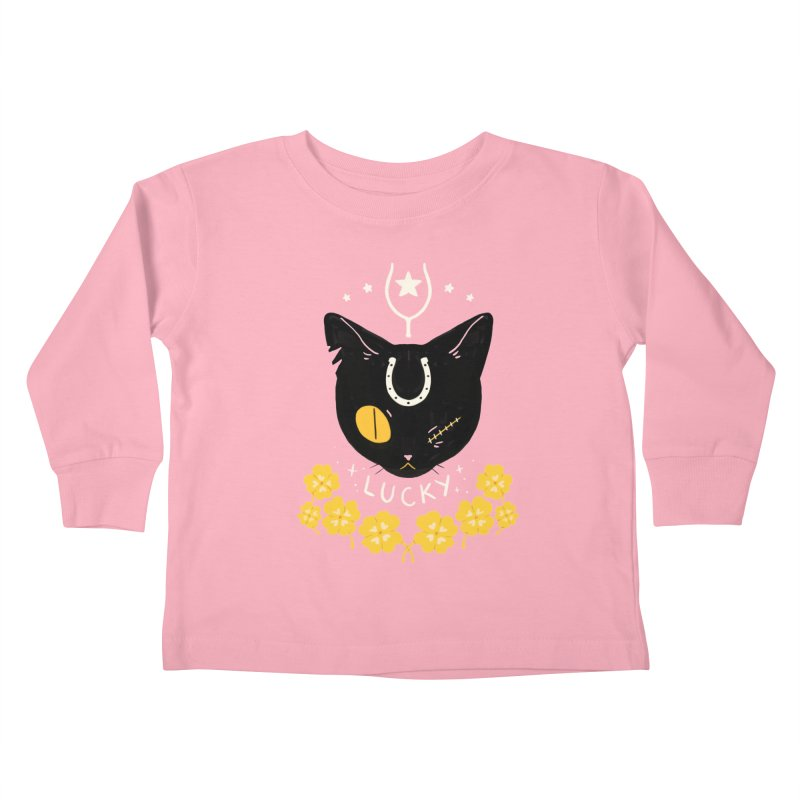 Lucky Cat Kids Toddler Longsleeve T-Shirt by StrangelyKatie's Store