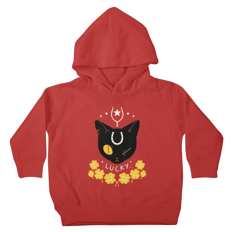 Lucky Cat Kids Toddler Pullover Hoody by StrangelyKatie's Store