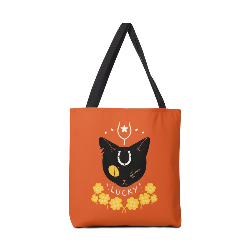 Lucky Cat Accessories Tote Bag Bag by StrangelyKatie's Store