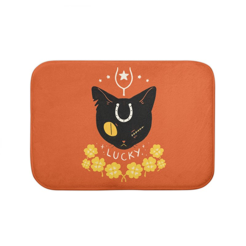 Lucky Cat Home Bath Mat by StrangelyKatie's Store