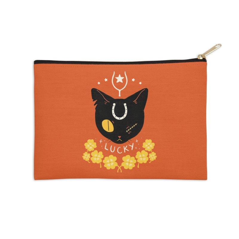 Lucky Cat Accessories Zip Pouch by StrangelyKatie's Store
