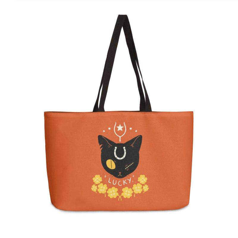 Lucky Cat Accessories Weekender Bag Bag by StrangelyKatie's Store