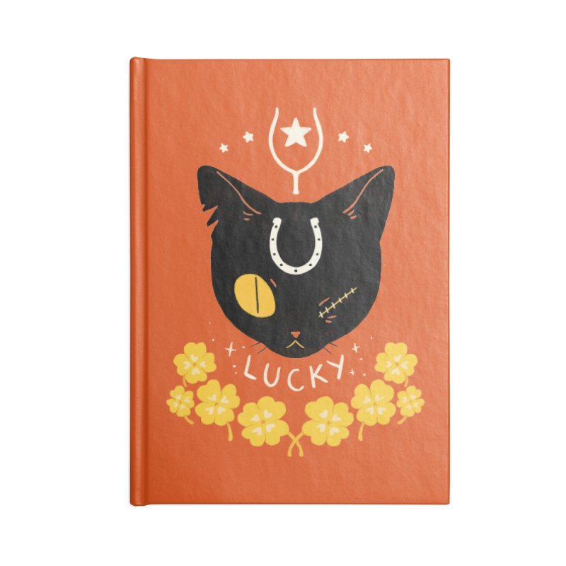Lucky Cat Accessories Blank Journal Notebook by StrangelyKatie's Store