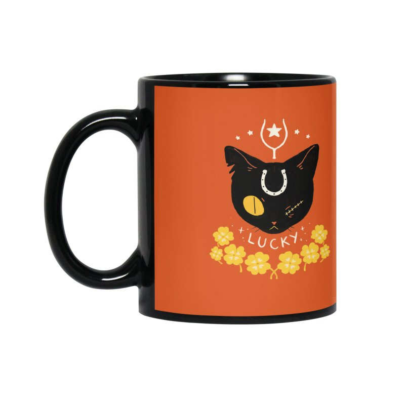 Lucky Cat Accessories Mug by StrangelyKatie's Store