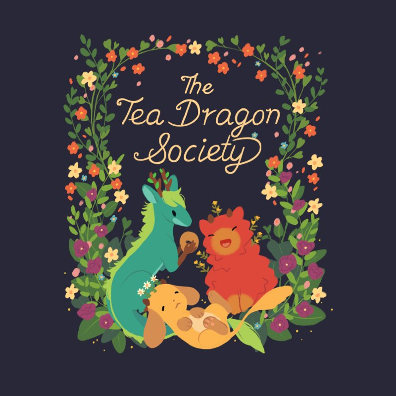 The Tea Dragon Society Men's Longsleeve T-Shirt by StrangelyKatie's Store