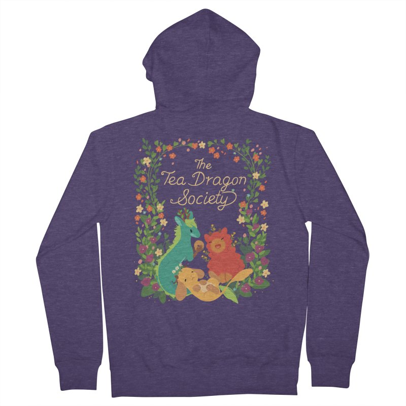 The Tea Dragon Society Men's French Terry Zip-Up Hoody by StrangelyKatie's Store