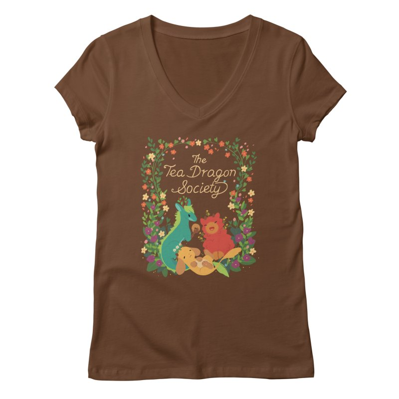 The Tea Dragon Society Women's Regular V-Neck by StrangelyKatie's Store