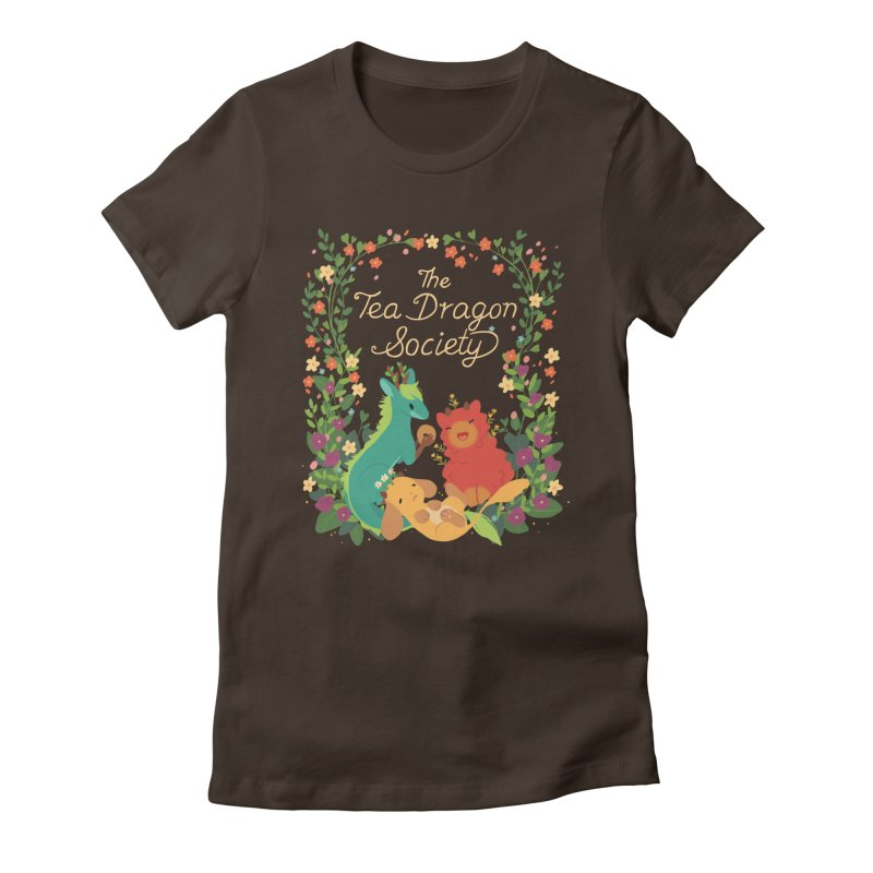 The Tea Dragon Society Women's Fitted T-Shirt by StrangelyKatie's Store