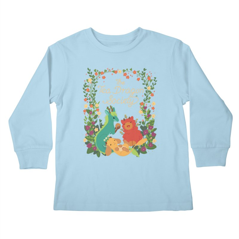 The Tea Dragon Society Kids Longsleeve T-Shirt by StrangelyKatie's Store