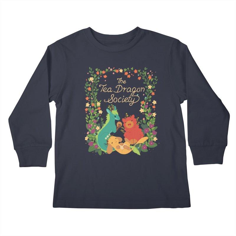 The Tea Dragon Society Kids Longsleeve T-Shirt by StrangelyKatie's Store