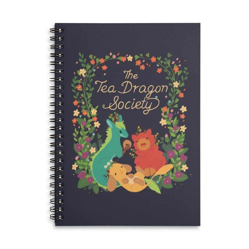 The Tea Dragon Society Accessories Lined Spiral Notebook by StrangelyKatie's Store