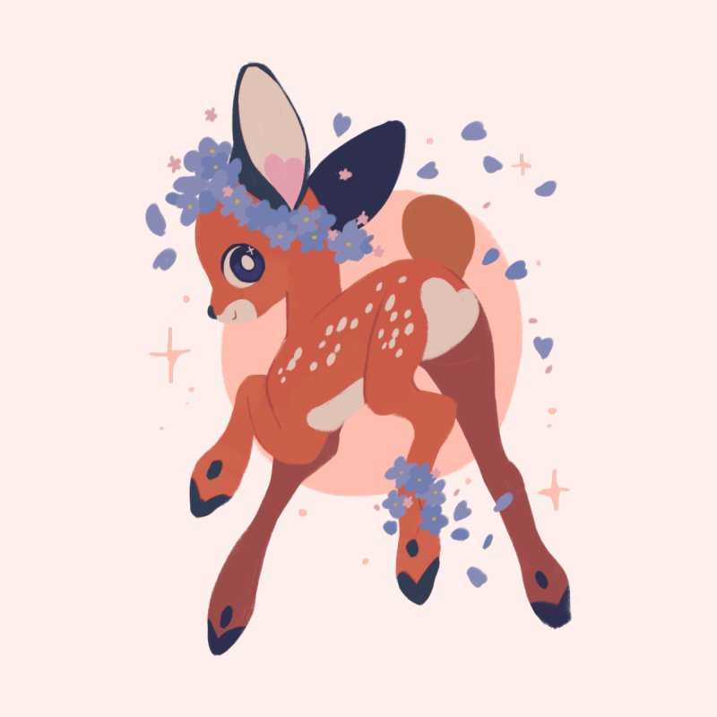 Heartbutt Deer Kids T-Shirt by StrangelyKatie's Store
