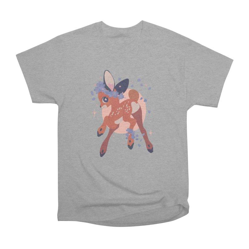 Heartbutt Deer Men's Heavyweight T-Shirt by StrangelyKatie's Store