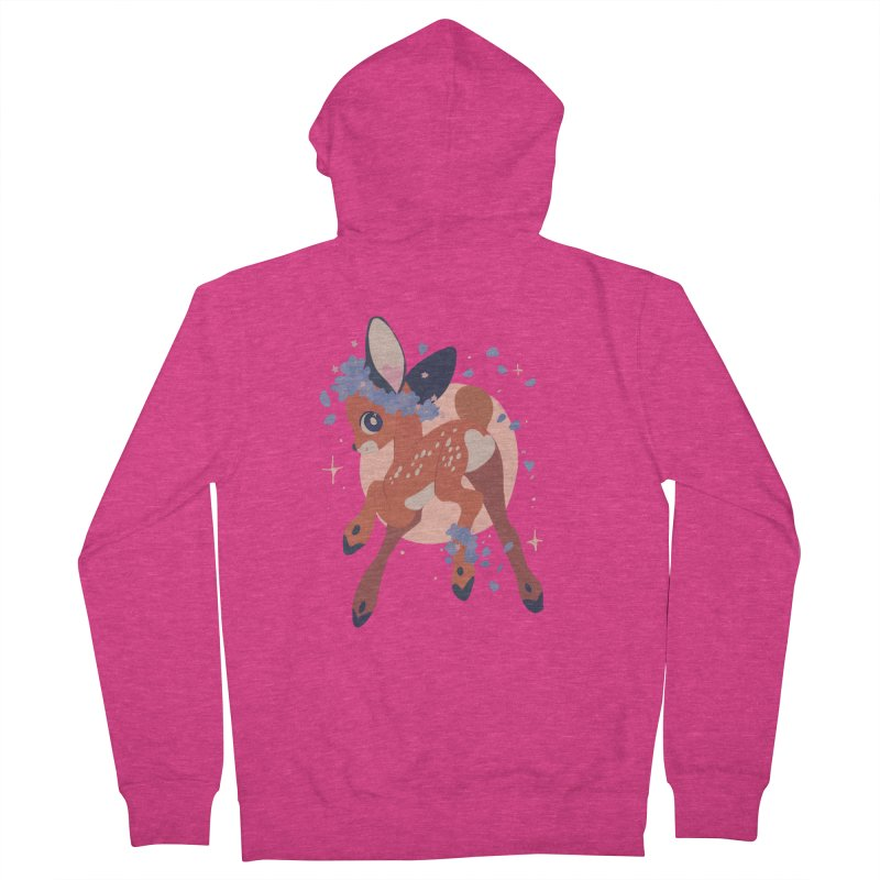 Heartbutt Deer Women's Zip-Up Hoody by StrangelyKatie's Store