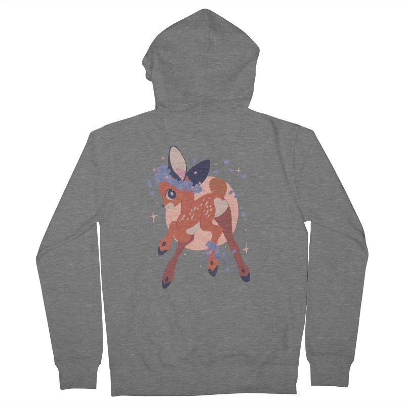 Heartbutt Deer Men's Zip-Up Hoody by StrangelyKatie's Store