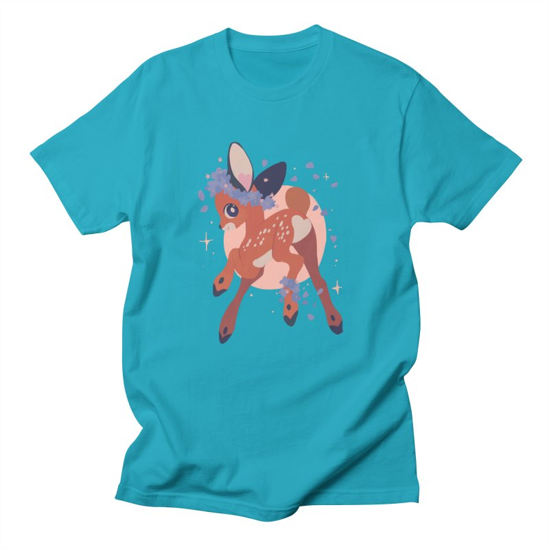Heartbutt Deer Men's Regular T-Shirt by StrangelyKatie's Store