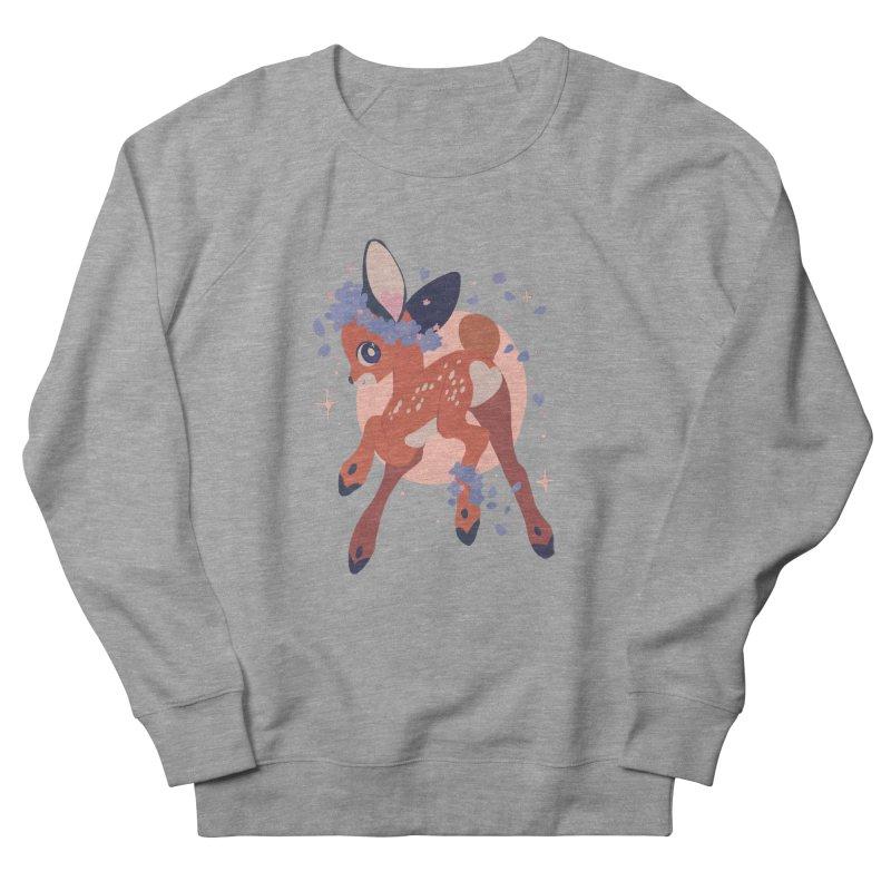 Heartbutt Deer Men's French Terry Sweatshirt by StrangelyKatie's Store