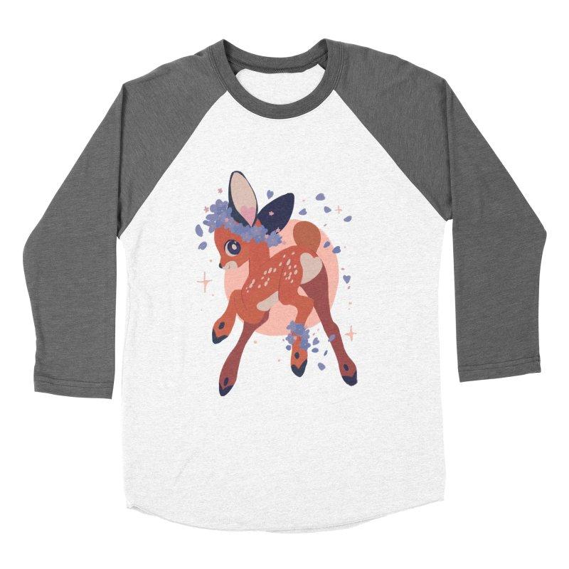 Heartbutt Deer Men's Baseball Triblend T-Shirt by StrangelyKatie's Store