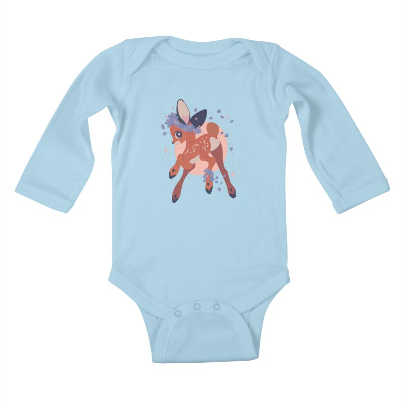 Heartbutt Deer Kids Baby Longsleeve Bodysuit by StrangelyKatie's Store