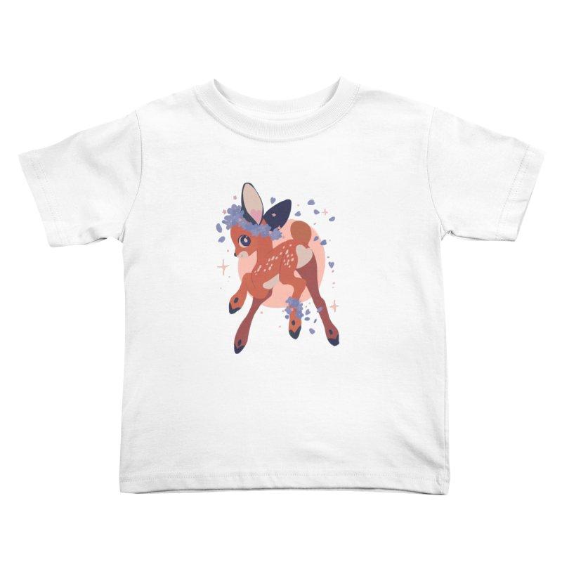 Heartbutt Deer Kids Toddler T-Shirt by StrangelyKatie's Store
