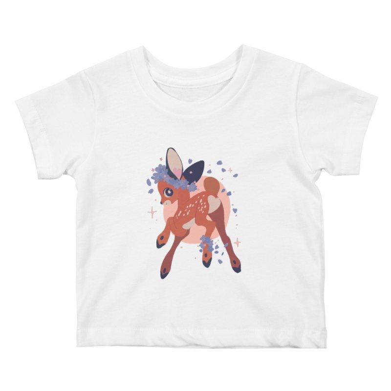 Heartbutt Deer Kids Baby T-Shirt by StrangelyKatie's Store