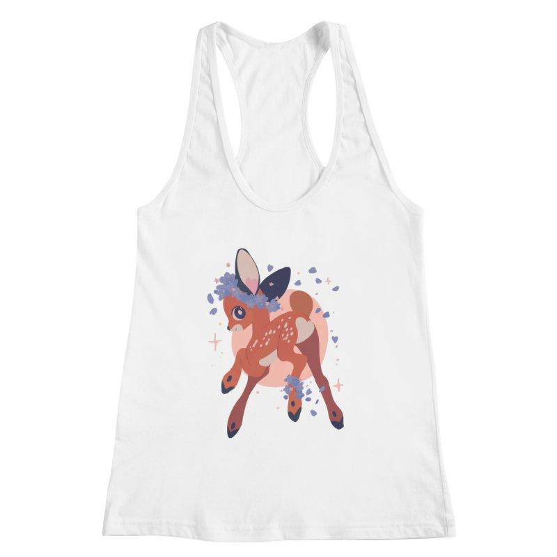 Heartbutt Deer Women's Tank by StrangelyKatie's Store