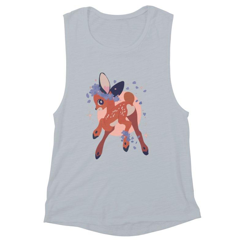 Heartbutt Deer Women's Muscle Tank by StrangelyKatie's Store