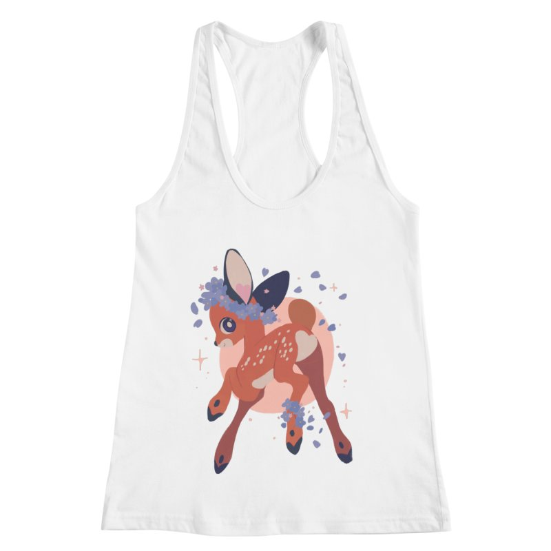 Heartbutt Deer Women's Racerback Tank by StrangelyKatie's Store