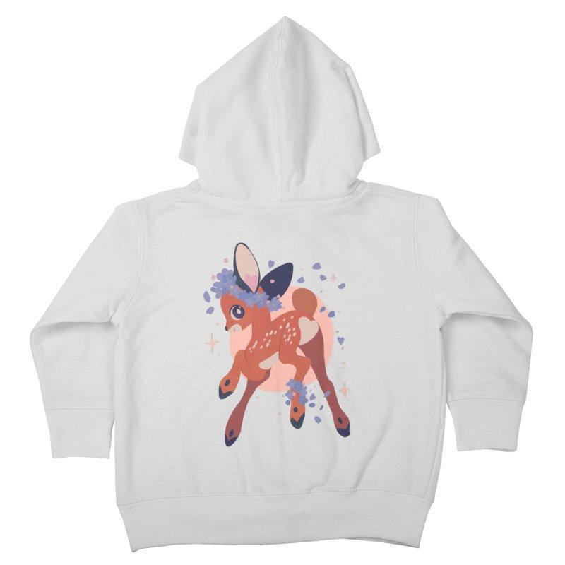 Heartbutt Deer Kids Toddler Zip-Up Hoody by StrangelyKatie's Store