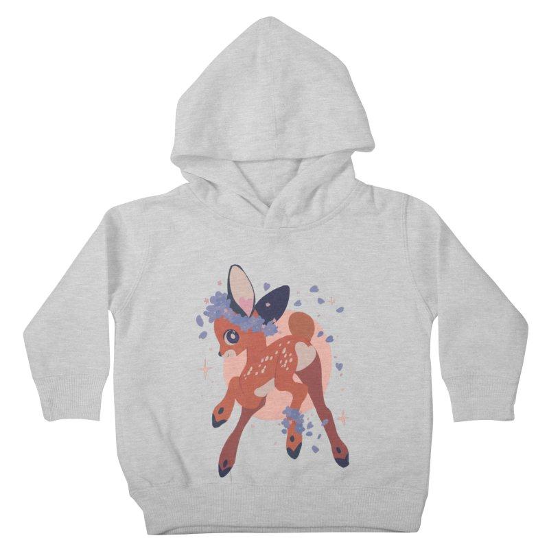 Heartbutt Deer Kids Toddler Pullover Hoody by StrangelyKatie's Store