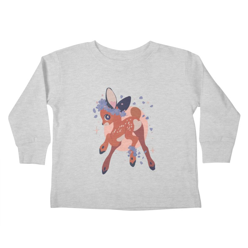 Heartbutt Deer Kids Toddler Longsleeve T-Shirt by StrangelyKatie's Store