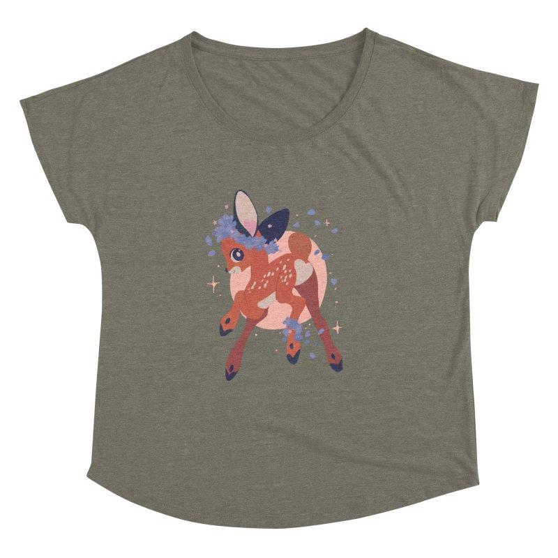 Heartbutt Deer Women's Dolman Scoop Neck by StrangelyKatie's Store