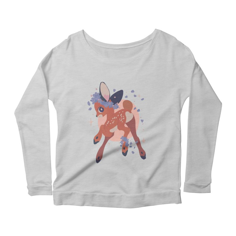 Heartbutt Deer Women's Scoop Neck Longsleeve T-Shirt by StrangelyKatie's Store