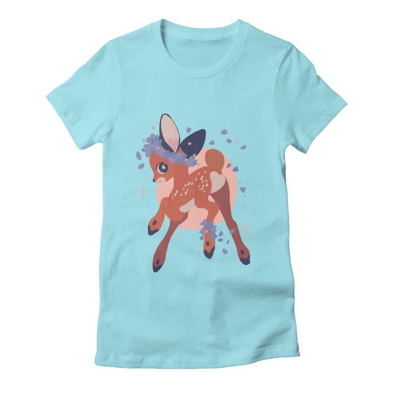 Heartbutt Deer Women's T-Shirt by StrangelyKatie's Store