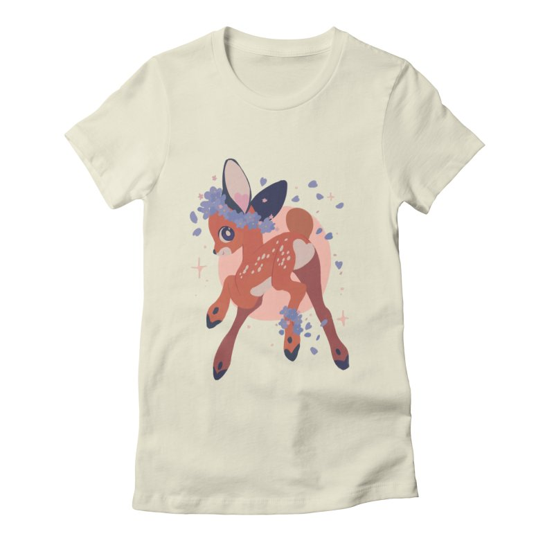Heartbutt Deer Women's T-Shirt by StrangelyKatie's Store