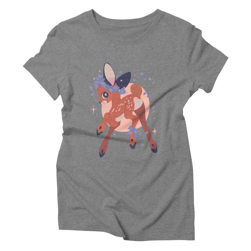 Heartbutt Deer Women's Triblend T-Shirt by StrangelyKatie's Store
